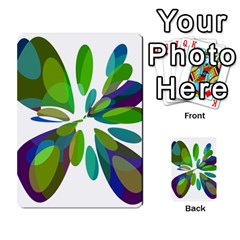 Green abstract flower Multi-purpose Cards (Rectangle)