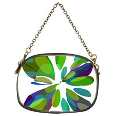 Green abstract flower Chain Purses (Two Sides)