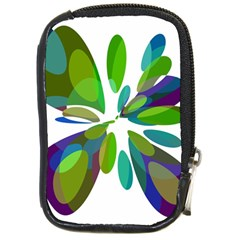 Green abstract flower Compact Camera Cases