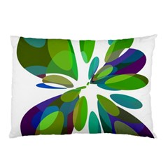 Green abstract flower Pillow Case (Two Sides)