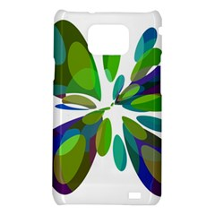 Green abstract flower Samsung Galaxy S2 i9100 Hardshell Case