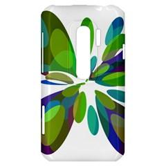Green abstract flower HTC Evo 3D Hardshell Case