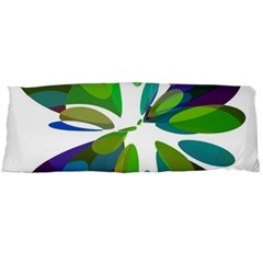 Green abstract flower Body Pillow Case Dakimakura (Two Sides)