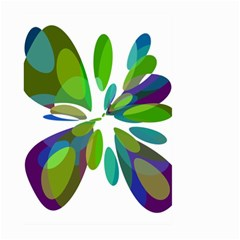 Green abstract flower Large Garden Flag (Two Sides)