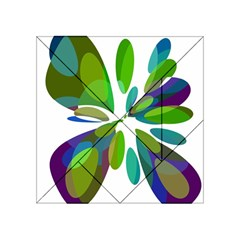 Green abstract flower Acrylic Tangram Puzzle (4  x 4 )