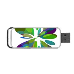 Green abstract flower Portable USB Flash (Two Sides)