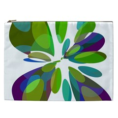 Green abstract flower Cosmetic Bag (XXL)