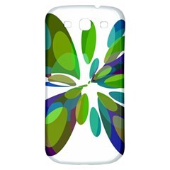 Green abstract flower Samsung Galaxy S3 S III Classic Hardshell Back Case
