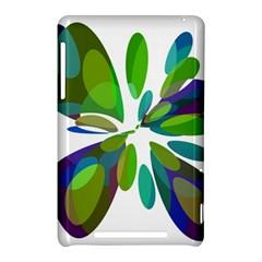 Green abstract flower Nexus 7 (2012)