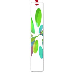 Green abstract flower Large Book Marks