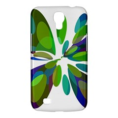Green abstract flower Samsung Galaxy Mega 6.3  I9200 Hardshell Case