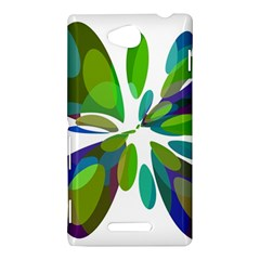 Green abstract flower Sony Xperia C (S39H)