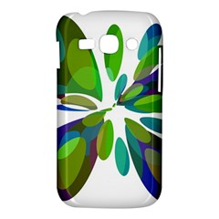 Green abstract flower Samsung Galaxy Ace 3 S7272 Hardshell Case