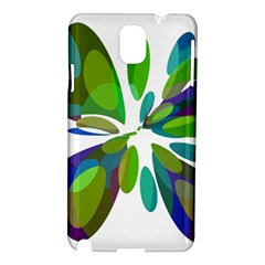 Green abstract flower Samsung Galaxy Note 3 N9005 Hardshell Case