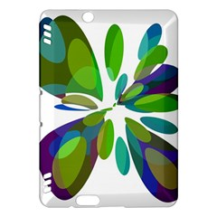 Green abstract flower Kindle Fire HDX Hardshell Case