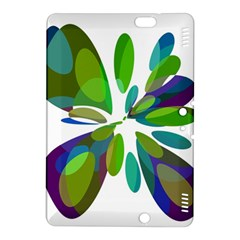 Green abstract flower Kindle Fire HDX 8.9  Hardshell Case