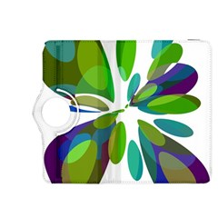 Green abstract flower Kindle Fire HDX 8.9  Flip 360 Case