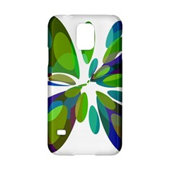 Green abstract flower Samsung Galaxy S5 Hardshell Case
