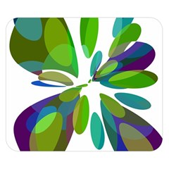 Green abstract flower Double Sided Flano Blanket (Small)