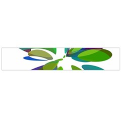 Green abstract flower Flano Scarf (Large)