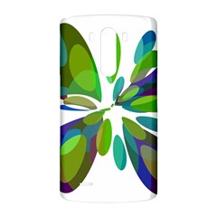 Green abstract flower LG G3 Back Case