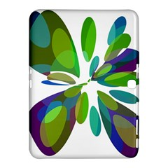 Green abstract flower Samsung Galaxy Tab 4 (10.1 ) Hardshell Case