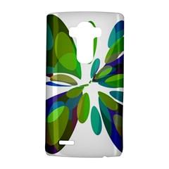 Green abstract flower LG G4 Hardshell Case