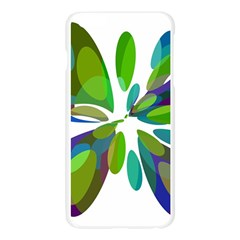 Green abstract flower Apple Seamless iPhone 6 Plus/6S Plus Case (Transparent)