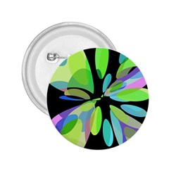 Green abstract flower 2.25  Buttons