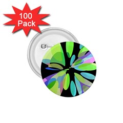 Green abstract flower 1.75  Buttons (100 pack)
