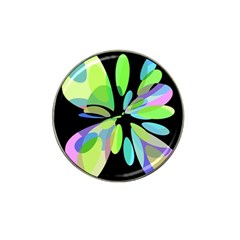 Green abstract flower Hat Clip Ball Marker