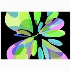 Green abstract flower Collage Prints