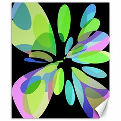 Green abstract flower Canvas 8  x 10