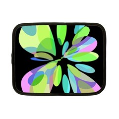 Green abstract flower Netbook Case (Small)