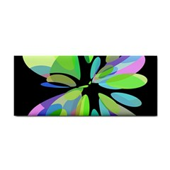 Green abstract flower Hand Towel