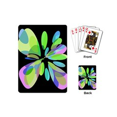 Green abstract flower Playing Cards (Mini)