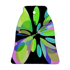 Green abstract flower Ornament (Bell)