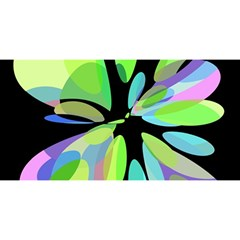 Green abstract flower YOU ARE INVITED 3D Greeting Card (8x4)