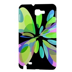 Green abstract flower Samsung Galaxy Note 1 Hardshell Case