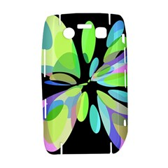 Green abstract flower Bold 9700