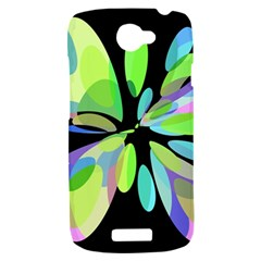 Green abstract flower HTC One S Hardshell Case