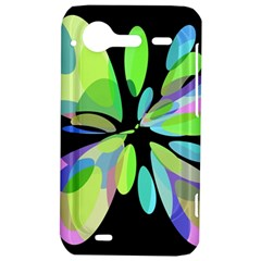 Green abstract flower HTC Incredible S Hardshell Case