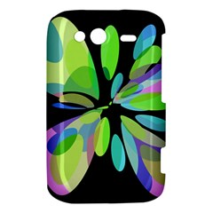 Green abstract flower HTC Wildfire S A510e Hardshell Case