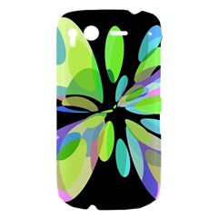 Green abstract flower HTC Desire S Hardshell Case