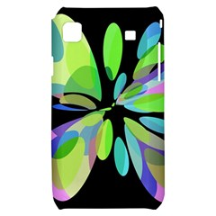 Green abstract flower Samsung Galaxy S i9000 Hardshell Case