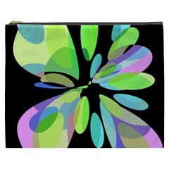 Green abstract flower Cosmetic Bag (XXXL)