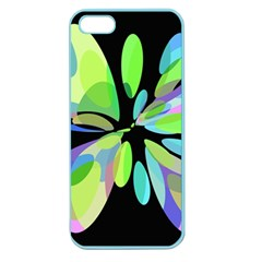 Green abstract flower Apple Seamless iPhone 5 Case (Color)