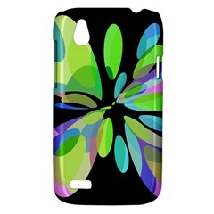 Green abstract flower HTC Desire V (T328W) Hardshell Case
