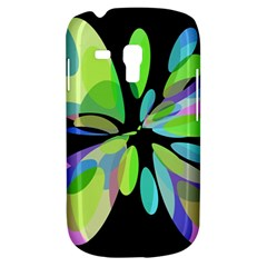 Green abstract flower Samsung Galaxy S3 MINI I8190 Hardshell Case
