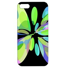 Green abstract flower Apple iPhone 5 Hardshell Case with Stand